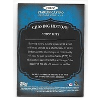 STARLIN CASTRO 2013 Topps Chasing History gray patch #CHRSC Yankees