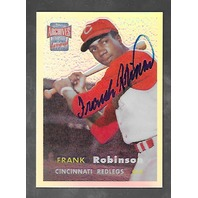 FRANK ROBINSON 2001 Topps Archives Reserve Autograph Refractor #35 Reds