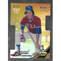 TERRY FRANCONA 2013 Panini Certified USA Baseball Legends die-cut gold /25