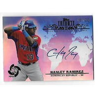 HANLEY RAMIREZ 2013 Topps Tribute WBC Autographs Blue auto /50 Red Sox