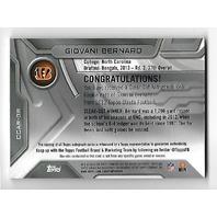 GIOVANI BERNARD 2013 Topps Strata Clear Cut Autograph Relic RC #CCARGB auto