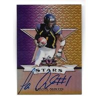 TAVON AUSTIN 2013 Leaf Valiant Draft Stars Purple Auto /15