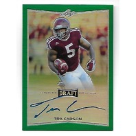 TRA CARSON 2016 Leaf Metal Draft Prismatic Green Refractor auto /10 autograph