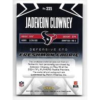 JADEVEON CLOWNEY 2014 Certified Freshman Fabric Blue auto RC/25 autograph Texans