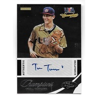 TREA TURNER 2013 Panini Certified USA Baseball Champions auto /299 autograph