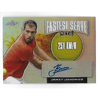 JERZY JANOWICZ 2016 Leaf Metal Tennis Fastest Serve Prismatic Auto autograph