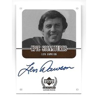 LEN DAWSON 1999 Upper Deck Century Legends Auto autograph Steelers Chiefs Browns