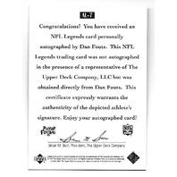 DAN FOUTS 1997 Upper Deck NFL Legends auto #AL-7 San Diego Chargers