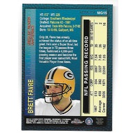 BRETT FAVRE 1998 Topps Chrome Measures of Greatness Refractor #MG15 Packers