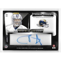 AARON DONALD 2014 Panini Playbook Rookie Signature Gold RC clear auto /10 Rams