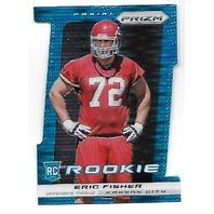 ERIC FISHER 2013 Panini Prizm Prizms Pulsar Light Blue Die-cut RC Rookie /15