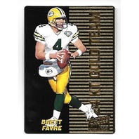 BRETT FAVRE 1995 Pinnacle Action Packed 1995 Rookie Stars 24kt Gold Team #2