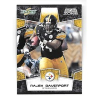 NAJEH DAVENPORT 2008 Score End Zone 3/6 Pittsburgh Steelers