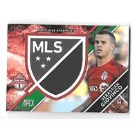 SEBASTIAN GIOVINCO 2016 Topps Apex MLS Crest Jumbo Relics Green /50 Toronto FC