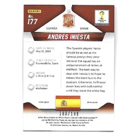 ANDRES INIESTA 2014 Panini Prizm World Cup Soccer Prizms Blue /199