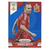 ANDRES INIESTA 2014 Panini Prizm World Cup Soccer Prizms Blue /199