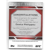 COSTA PHILIPPOU 2013 Topps UFC Finest Threads Jumbo Relic auto #FTAR-CP 2 color