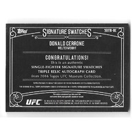 DONALD CERRONE 2016 Topps UFC Museum Collection Signature Swatches auto /50