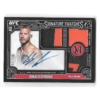 DONALD CERRONE 2016 Topps UFC Museum Collection Signature Swatches auto /50