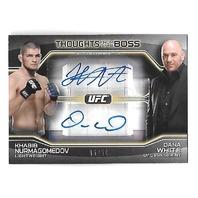 KHBIB NURMAGOMEDOV/DANA WHITE 2016 UFC Topps Thoughts from Boss auto /50