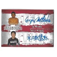 EIJI MITSUOKA/TAKEYA MIZUGAKI 2010 Leaf MMA Metal UFC Showdowns Dual auto /199