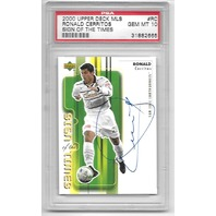 RONALD CERRITOS 2000 UD Upper Deck MLS Sign of the Times auto RC PSA 10 GEM-MT