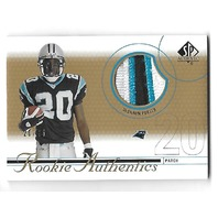 DeSHAUN FOSTER 2002 Upper Deck SP Rookie Authentics patch /25 3 color