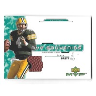 BRETT FAVRE 2001 Upper Deck MVP Souvenirs football patch #BF Packers