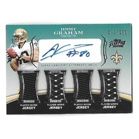 JIMMY GRAHAM 2010 Topps Prime Autographed Relics Level 5 auto patch /299 4 patch