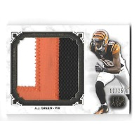 A.J. GREEN 2013 Topps Museum Collecttion Jumbo patch /25 3 color