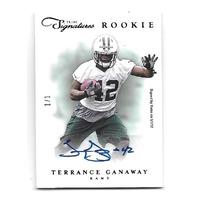 TERRANCE GANAWAY 2012 Panini Prime Signatures Black Rookie RC auto 1/1 Rams