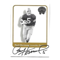 PAUL HORNUNG 2001 Fleer Greats of the Game auto QB Green Bay Packers