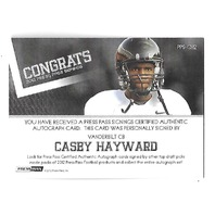 CASEY HAYWARD 2012 Press Pass Autographs Blue Red Ink /5 Vanderbilt Commodores