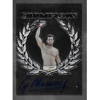 GEGARD MOUSASI 2011 Leaf UFC MMA Metal Champions Authentic Signature auto CHGM1
