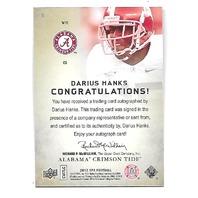 DARIUS HANKS 2012 Upper Deck SP Authentic Autographs Gold auto /15