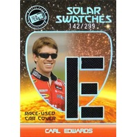 CARL EDWARDS 2009 Solar Swatches Letter E Race Used Car Cover Card 142/299