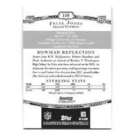 FELIX JONES 2008 Bowman Sterling Rookie Jersey Patch auto #150 RC Cowboys