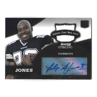 FELIX JONES 2008 Bowman Sterling Rookie Jersey Patch auto #150 RC Cowboys