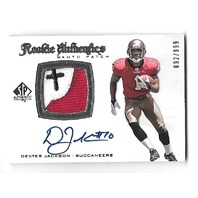 DEXTER JACKSON 2008 UD SP Authentic Rookie Patch auto /999 RC SPA Buccaneers