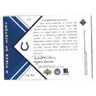 EDGERRIN JAMES 1999 UD Black Diamond a Piece of History Patch #EJ Colts