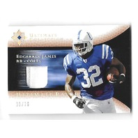 EDGERRIN JAMES 2005 UD Ultimate Collection Game Jerseys Patch Platinum /20 Colts