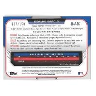 DERMIS GARCIA 2015 Bowman Chrome Prospect Blue Refractor auto /150 Yankees