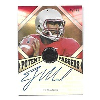 EJ MANUEL 2013 Press Pass Fanfare Potent Passers Silver auto /99 Bills