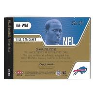 WILLIS McGAHEE 2004 Fleer Authentix Club Box auto /25 Buffalo Bills