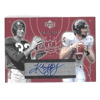 KLIFF KINGSBURY/SAMMY BAUGH 2003 Upper Deck Pros & Prospects auto /2000 Aggies