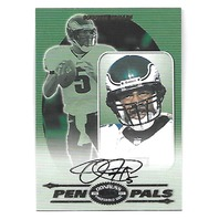DONOVAN McNABB 2000 Donruss Preferred QBC Pen Pals auto PR 50 Eagles
