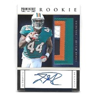 LAMAR MILLER 2012 Panini Prominence Rookie Jersey patch auto RC /90 Dolphins