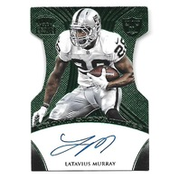 LATAVIUS MURRAY 2015 Crown Royale Signatures Green Die-cut auto /5 Raiders