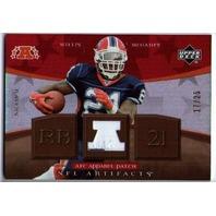 WILLIS McGAHEE 2007 Upper Deck Artifacts AFC Apparel Patch Jersey Card 17/25