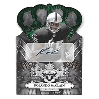 ROLANDO McCLAIN 2010 Crown Royale Autograph Green Die-cut Rookie RC auto /10